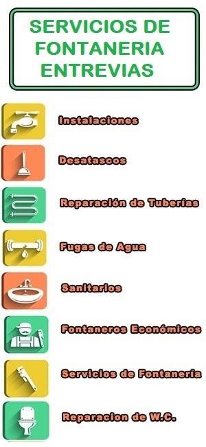 servicios de fontaneria en Entrevias